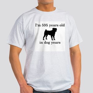 85 birthday dog years pug T-Shirt