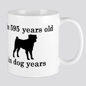 85 birthday dog years pug 2 Mugs