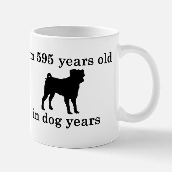 85 birthday dog years pug 2 Mugs
