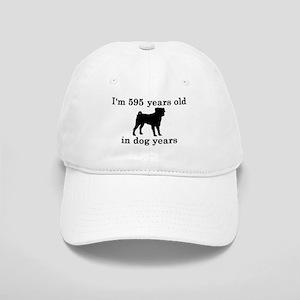 85 birthday dog years pug 2 Baseball Cap