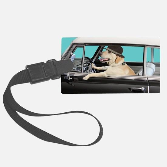 Yellow Labrador Driving Classic  Luggage Tag
