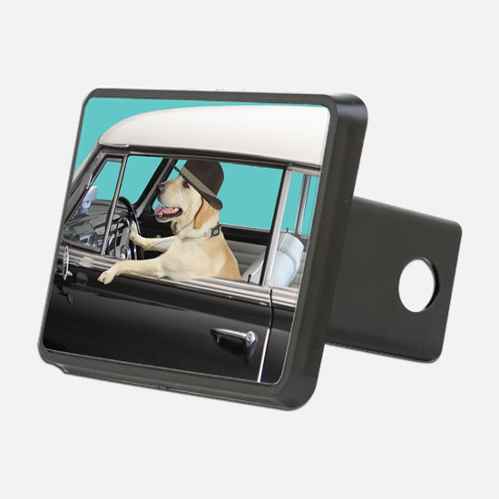 Yellow Labrador Driving Cl Hitch Cover