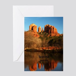 Sedona_34x44_TwinDuvet_CathedralRock Greeting Card