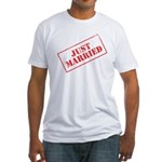 Just Married Stamp Fitted T-Shirt