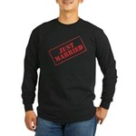 Just Married Stamp Long Sleeve Dark T-Shirt