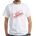 Just Married Stamp White T-Shirt