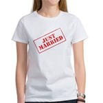 Just Married Stamp Women's T-Shirt