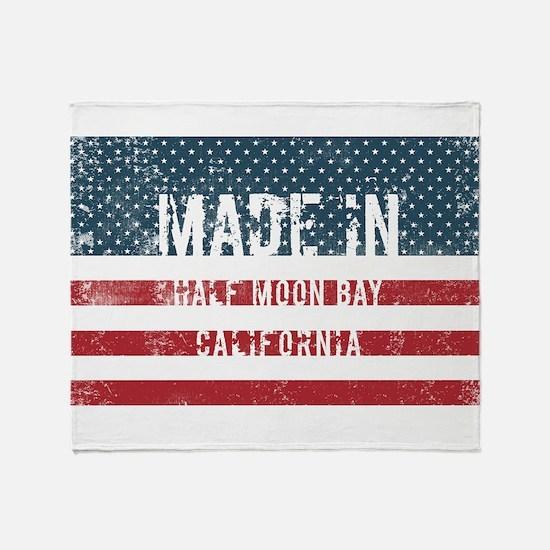 Made in Half Moon Bay, California Throw Blanket
