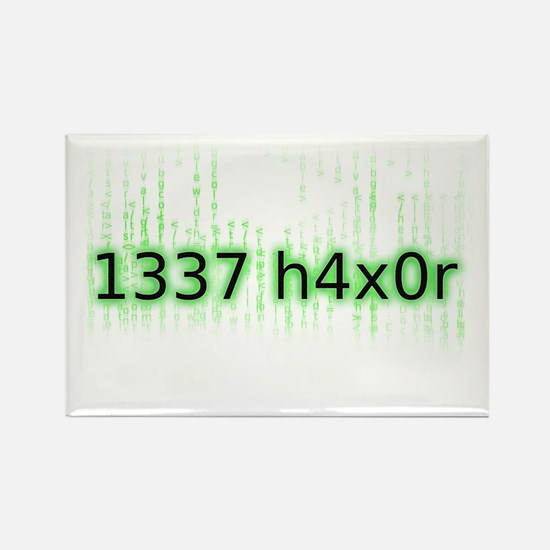 1337 h4x0r Rectangle Magnet