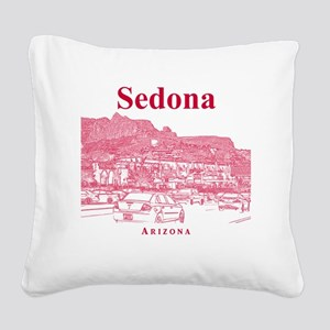 Sedona_12X12_MainStreet_Red Square Canvas Pillow