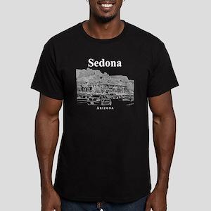 Sedona_12X12_MainStree Men's Fitted T-Shirt (dark)