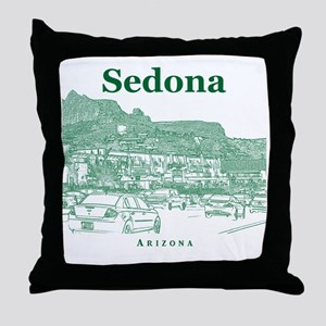 Sedona_10x10_v1_MainStreet_Green Throw Pillow