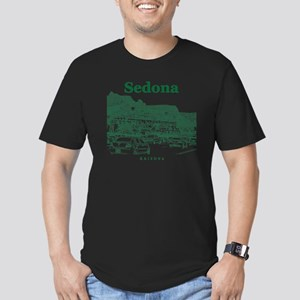 Sedona_10x10_v1_MainSt Men's Fitted T-Shirt (dark)