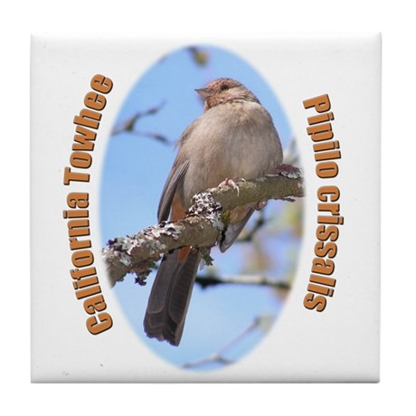 California Towhee Tile Coaster