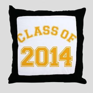 Class Of 2014 Yellow Throw Pillow
