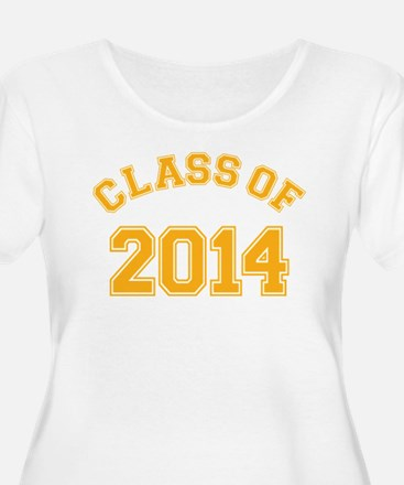 Class Of 2014 Yellow Plus Size T-Shirt