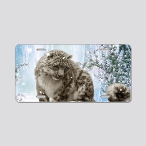 Wonderful snowleopard, winter landscape Aluminum L
