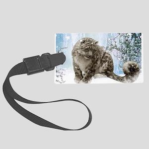 Wonderful snowleopard, winter landscape Luggage Ta