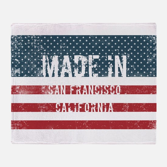 Made in San Francisco, California Throw Blanket