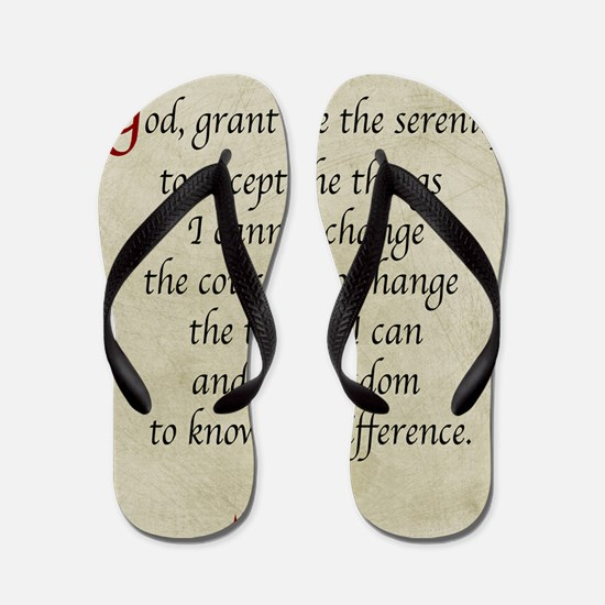 Serenity Prayer-Vintage Flip Flops