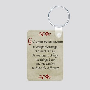 Serenity Prayer-Vintage Aluminum Photo Keychain