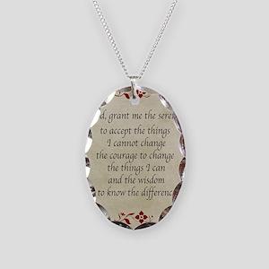 Serenity Prayer-Vintage Necklace Oval Charm