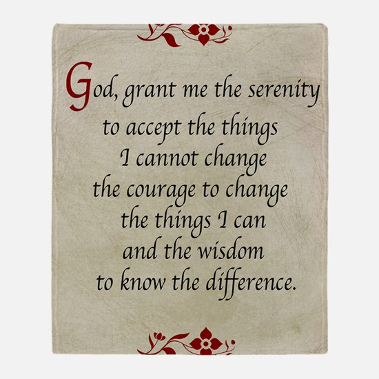 Serenity Prayer-Vintage Throw Blanket