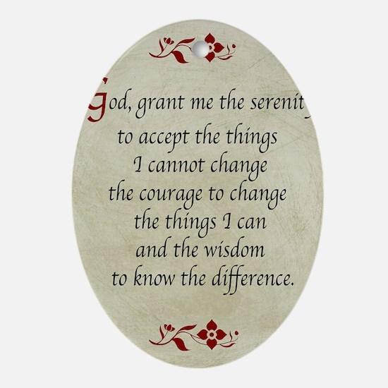 Serenity Prayer-Vintage Oval Ornament