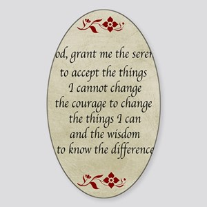 Serenity Prayer-Vintage Sticker (Oval)