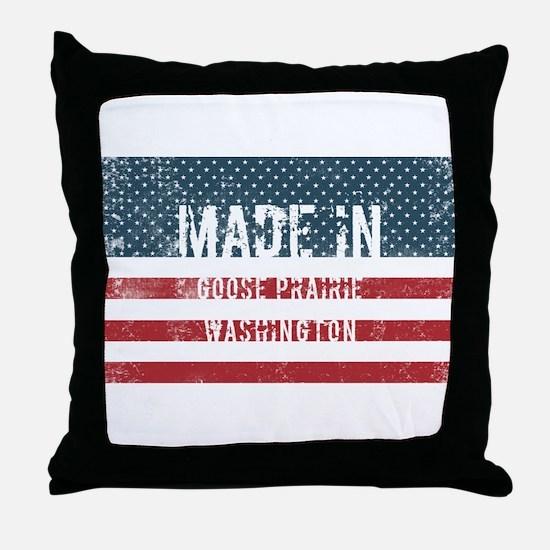 Made in Goose Prairie, Washington Throw Pillow
