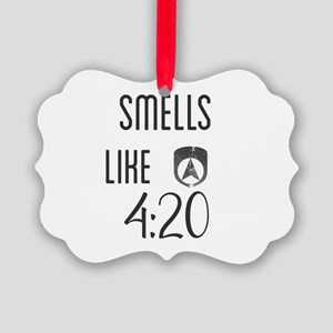 smells like 4:20 Picture Ornament