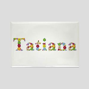 Tatiana Bright Flowers Rectangle Magnet