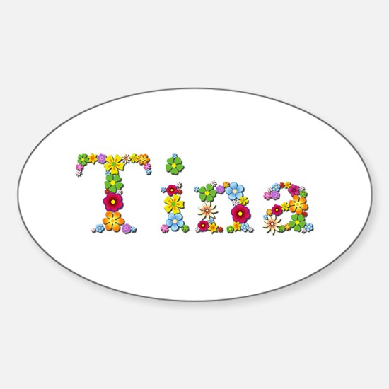 Tina Bright Flowers Oval Decal