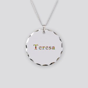 Teresa Bright Flowers Necklace Circle Charm
