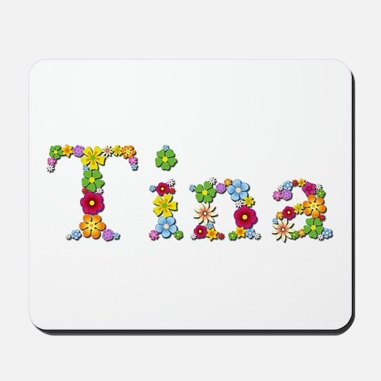 Tina Bright Flowers Mousepad