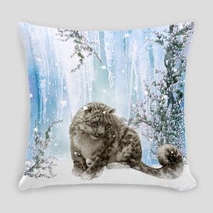 Wonderful snowleopard, winter landscape Everyday P