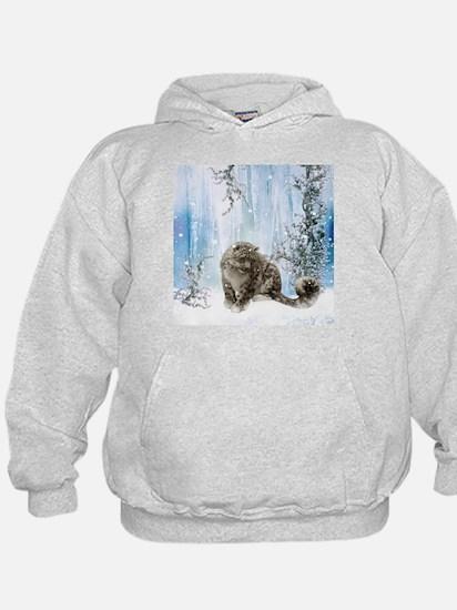 Wonderful snowleopard, winter landscape Sweatshirt