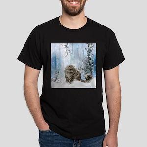 Wonderful snowleopard, winter landscape T-Shirt