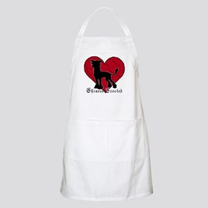 Chinese Crested Heart BBQ Apron
