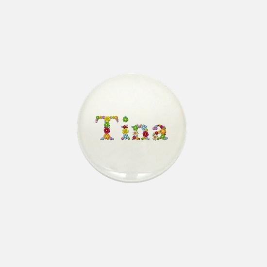 Tina Bright Flowers Mini Button