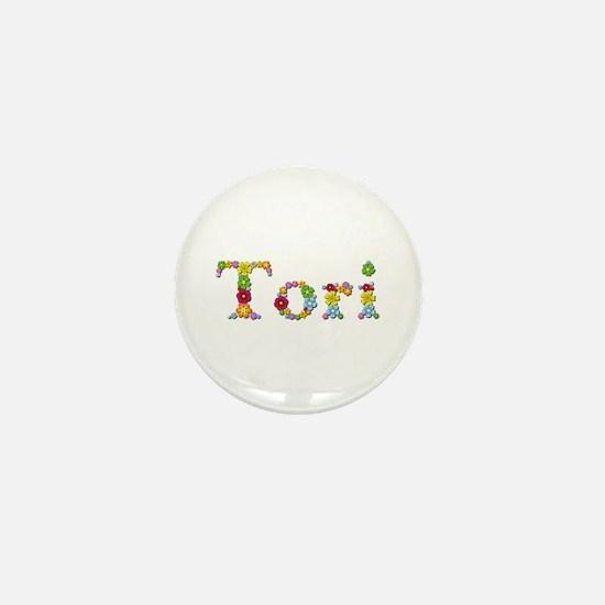 Tori Bright Flowers Mini Button