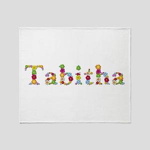 Tabitha Bright Flowers Throw Blanket