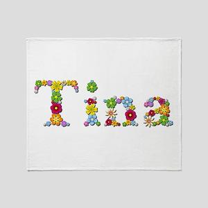 Tina Bright Flowers Throw Blanket