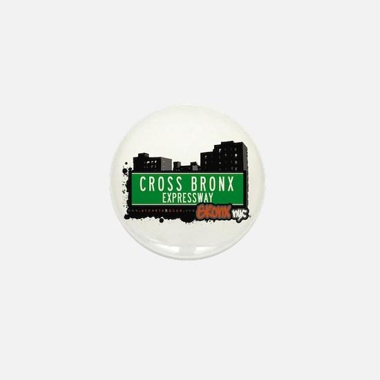 Cross Bronx Expwy, Bronx, NYC Mini Button