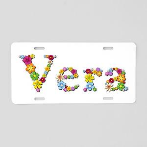 Vera Bright Flowers Aluminum License Plate