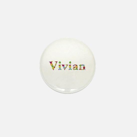 Vivian Bright Flowers Mini Button