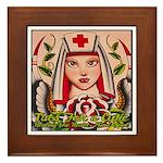 Nurse Healing Framed Tile