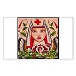 Nurse Healing Rectangle Sticker