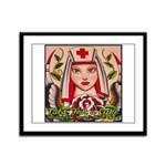 Nurse Healing Framed Panel Print