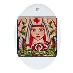 Nurse Healing Oval Ornament